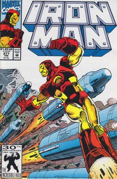 Cover for Iron Man February 1992 Marvel Iron Man Comic Books, Marvel Comic Books, Comic Books Art, Book Art, Tony Stark, Dr Octopus, Iron Man Armor, Silver Age Comics, Classic Comics