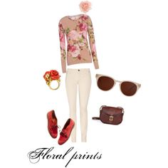 Floral prints, created by senjailo.polyvore...