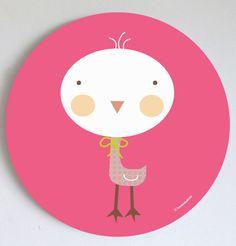 Kids wall art, prints and murals-Cuadros infantiles, láminas y tarjetas para fiestas — Cuadro dot Koki- Koki wall art