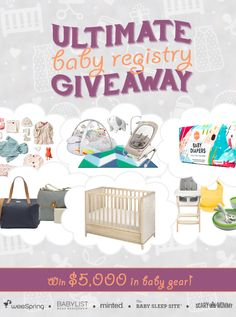 Enter the Ultimate Baby Registry Giveaway! You can even win an Owlet Baby Monitor. :)