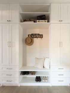 Jillian Harris design on Love It Or List It Vancouver MUD ROOM Guys! Remember when I said that last week's episode of Love It Or List It Vancouver was one of my FAVOURITES because it was the first time I took Leo to Entryway Cabinet, Entryway Closet, Entryway Storage, Entryway Ideas, Hallway Ideas, Country Entryway, Mudroom Laundry Room, Home Projects, Room Decor