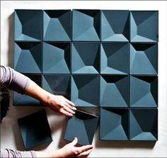 Azulejo Czech En función de la posición de la pieza, pero también del usuario cambia la perspectiva de la superficie. Estos juegos se realizan a través de piezas que por ejemplo, debido a su volumen, generan diferentes compasiones y en función del ángulo en que se observen el resultado visual es diferente.