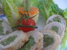 Czary w kuchni- prosto, smacznie, spektakularnie.: Roladki z indyka faszerowane słupkami fasoli wielo... Sushi, Shrimp, Meat, Ethnic Recipes, Kitchen, Food, Cuisine, Meal, Eten