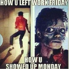 Fridays vs Mondays