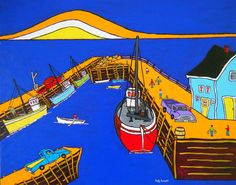 Parker's Cove by Holly Everett of Nova Scotia Family Roots, Canadian Art, Prince Edward Island, New Brunswick, The Province, Newfoundland, Nova Scotia, Ancestry, East Coast