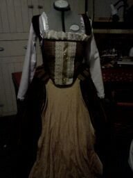 second renaissance dress with a lace on front panel