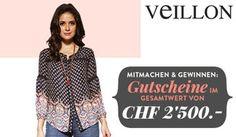 Gewinne mit dem Lieblings-Outfit Gewinnspiel von Veillon 5 mal einen #Veillon Gutschein im Wert von jeweils CHF 500.-.  https://www.alle-schweizer-wettbewerbe.ch/gewinne-veillon-gutscheine/
