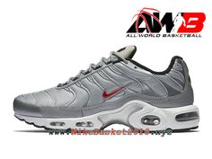 buy popular f910f 8c704 Chaussures Nike Prix Pas Cher Pour Homme Nike Air Max Plus (Nike TN) Gris  Rouge 903827001