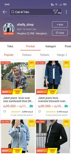 Shopping Websites, Shopping Hacks, Online Shopping Clothes, Online Shop Baju, How To Tie Shoes, Jaket Jeans, Best Online Clothing Stores, Casual Hijab Outfit, Clothing Hacks
