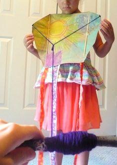 DIY kite using a paper bag