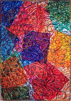 Barbara Cheeseman – Little Gem Quilts Sweet Wrappers, Textile Courses, Fused Plastic, Textiles Sketchbook, Candy Art, Easy Art Projects, Miniature Quilts, A Level Art, Contemporary Quilts