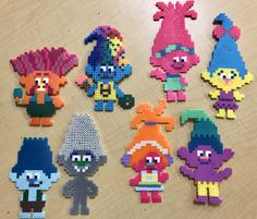 Trolls Perler Beads - Perler Bead Patterns - King Peppy, Harper, Poppy, Smidge, Branch, Guy Diamond, DJ Suki, Creeks - Trolls