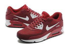 Sklep Dobry Nike Air Max 90 KPU TPU Wino Czerwone Białe Buty Sportowe Dla Mężczyzn z bezpiecznej wysyłki