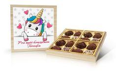 Navrhněte si svou vlastní bonboniéru s motivem jednorožce a doplňte své přání Coasters, Coaster