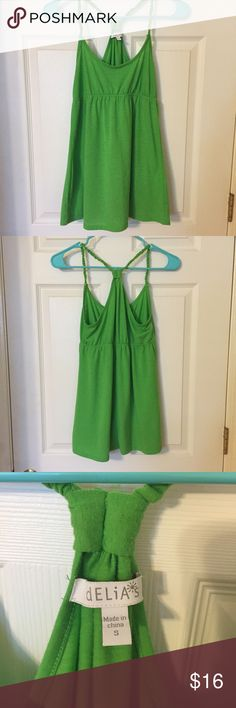 Lime Green Flowy Tank Top Only worn a few times. In great condition! Racer back, flowy tank top! Delia's Tops Tank Tops