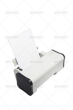 Buy Printer by lightzone on PhotoDune. Printer on Isolated White Background Wireless Printer, Usb Flash Drive, Usb Drive