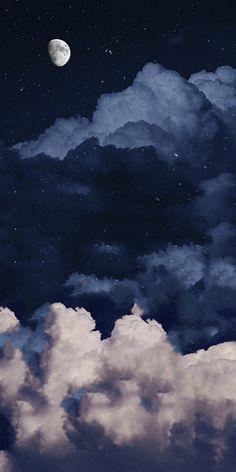 Tumblr Wallpaper, Night Sky Wallpaper, Cloud Wallpaper, Iphone Wallpaper Tumblr Aesthetic, Black Aesthetic Wallpaper, Iphone Background Wallpaper, Scenery Wallpaper, Nature Wallpaper, Cartoon Wallpaper