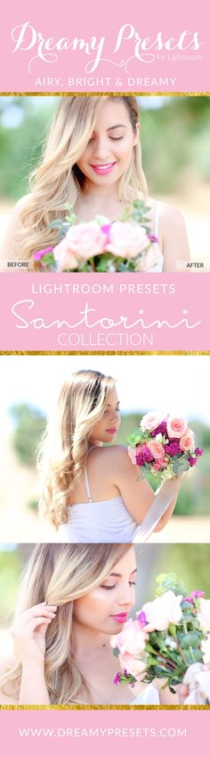 Bright, airy, dreamy Lightroom Presets photo effects. Super easy to use.