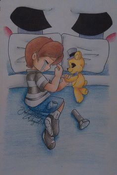 Five Nights at Freddys 4 Sleep. I see that puppet mask and no! The bite of 87' victim was not Mari! He is goldie!