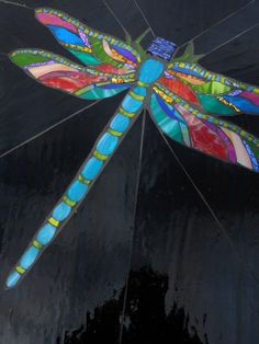 Dragonfly mosaic by AugustGlass1 on Etsy, $125.00