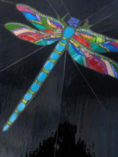 Libélula Dragonfly mosaic by AugustGlass1