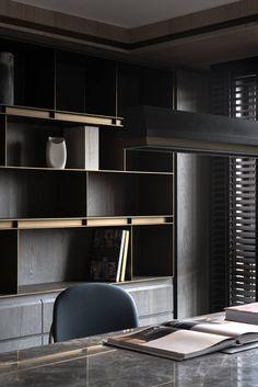 Home office - Designer unknown Office Interior Design, Office Interiors, Office Cabinet Design, Home Theaters, Storage Design, Shelf Design, Cabinet Furniture, Furniture Design, Interiores Design