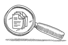 Magnifying Glass File Document Drawing