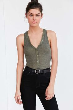 Out From Under Henley Tank Top