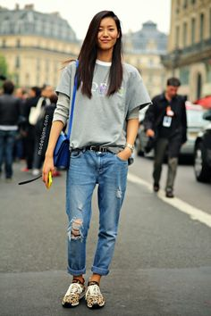 Liu Wen after Stella McCartney, Paris, September 2013
