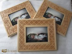 Ales the woodcarver: Chip carved picture frames Chip Carving, Wood Carving, Christmas Ornament Crafts, Designs To Draw, Picture Frames, Sculptures, Chips, Woodworking, Decor