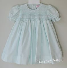NWT Petit Ami White Smocked Daygown 2pc Preemie Baptism Christening Dress Girls