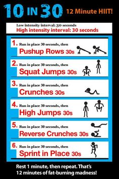 12 Minute HIIT #fitness