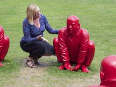 Catharine Bramkamp with RED MEN