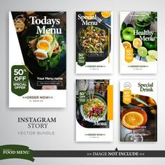 Food and Gardening Tips Food Graphic Design, Food Menu Design, Food Poster Design, Web Design, Brochure Food, Design Brochure, Stationery Design, Instagram Design, Instagram Story