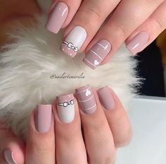 Stunning Striped Nails Art Ideas for Prom ❀ - Diaror Diary - Page 29 ♥ 𝕴𝖋 𝖀 𝕷𝖎𝖐𝖊, 𝕱𝖔𝖑𝖑𝖔𝖜 𝖀𝖘!♥ ♡*♥ ♥ ♥ ♥ ♥ ♥ ♥ ♥ ♥ ♥ ♥ ღ♥Hope you like this collection about striped nails! ღ♡*♥ 𝖘𝖙𝖚𝖓𝖓𝖎𝖓𝖌 𝖘𝖙𝖗𝖎𝖕𝖊𝖉 𝖓𝖆𝖎𝖑𝖘 𝖉𝖊𝖘𝖎𝖌𝖓 ♡*♥ ღ Stylish Nails, Trendy Nails, Cute Nails, Perfect Nails, Gorgeous Nails, Hair And Nails, My Nails, S And S Nails, Romantic Nails