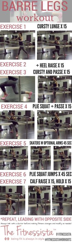 If you love doing barre workouts at home, this barre legs workout is a great one to get your legs shaking and build lean legs. The best part? Zero equipment! Check out the full post for form cues plus a video how-to. Save now for an awesome workout later. fitnessista.com