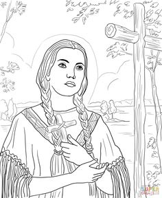 Miraculous medal coloring pages for december 8 feast of for St kateri coloring page