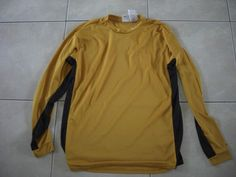 Men's Large Nike Fit Gold / Black Long Sleeve Top Sz L   #Nike #ShirtsTops