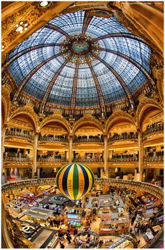 Galeries des Lafayette, Paris It is amazing! One of the coolest things I did in Paris! Oh The Places You'll Go, Places To Travel, Places To Visit, Paris Travel, France Travel, Lafayette Paris, Oh Paris, Saint Michael, Tour Eiffel