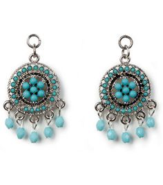 TM Boho-Pendant Small Rnd Silver With Turquoise By Tori Spelling @ Joann.com $5.99