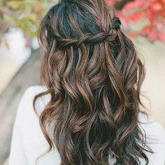 Omgg perfect  #hair #hairstyles #curls #braid #brunette - @hairypost- #webstagram
