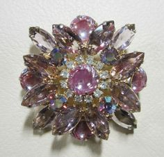 Vintage Jewelry   Juliana Rhinestone Brooch by YesteryearsElegance