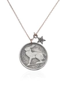 Silver Rabbit Coin Necklace | Laura Lee | Avenue32