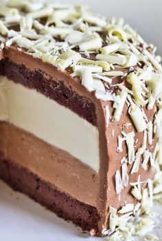 Tuxedo Cheesecake. While this cheesecake is more work than we'd normally do, the effect is truly stunning. Not only is this cheesecake delicious, it is beautiful to look at.