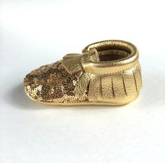 Halo (Gold) Sequin Moccasins - https://www.etsy.com/listing/269440631/halo-gold-sequin-toe-angel-baby?ref=listing-shop-header-2