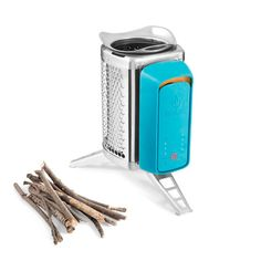 Natural fuel is all you need to fire up the BioLite camp CookStove; stuff like leaves, twigs & pinecones. Inside the combustion chamber, this material is stoked by a small rechargeable fan & creates enough heat to boil water in less than 5 minutes. Not needing fuel canisters also makes your pack lighter. $100