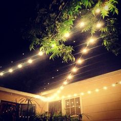 Large Bulb String Lights for patio lighting - these would be awesome in the front windows