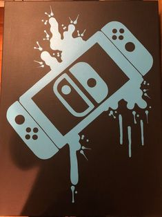 Video Game Decor, Video Game Rooms, Video Game Art, Nintendo Switch, Painting Videos, Painting & Drawing, Vinil Cricut, Record Art, Game Controller