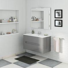 50 Fotos de móveis para casa de banho pequena ~ Decoração e Ideias Bathroom Furniture, Merlin, Double Vanity, Osaka, Small Bathrooms, Bathroom Ideas, Restroom Decoration, Bathroom, Apartment Bathroom Design