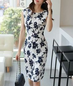 Korean Women`s Fashion Shopping Mall, Styleonme. Simple Dresses, Beautiful Dresses, Formal Dresses, Hijab Fashion, Fashion Dresses, Pink Fashion, Womens Fashion, Work Attire, Outfit Posts